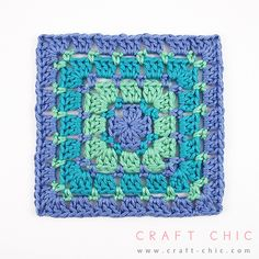 [Photo Tutorial] Turn This Block Stitch Square Pattern Into A Full Blanket. It's So Simple -  ༺✿ƬⱤღ  http://www.pinterest.com/teretegui/✿༻