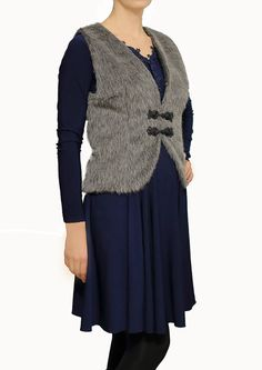 Wool vest fur vest 100% wool AS gift for her gift for by Irinuka