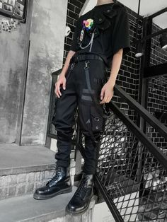 Grunge Outfits, Outfits Casual, Night Outfits, Punk Outfits, Summer Outfits, Egirl Fashion, Korean Fashion, Fashion Outfits, Mens Grunge Fashion