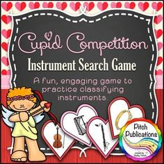 This game is SOOOO FUN!! Kids race to beat cupid as they sort instruments into families. My kids went NUTS! #elmsued #pitchpublications
