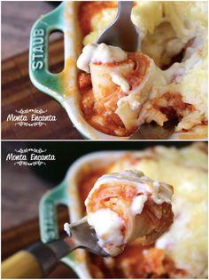 Rondeli Rapidinho, leva queijo muzarela, presunto, molho de tomate natural com calabresa moida e toque de alho cru, molho branco de requeijão e parmesão ralado gratinado!