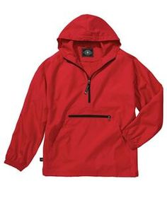 Charles River Apparel Youth Pack-n-go Pullover Jacket,Feather-light, wind and water-resistant Softex Polyester, unlined. http://www.tucllcpromo.us/appareljacketsouterwear.htm