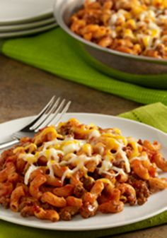 Sloppy Joe Macaroni Skillet is a one-pot meal that you can make in 30 minutes.