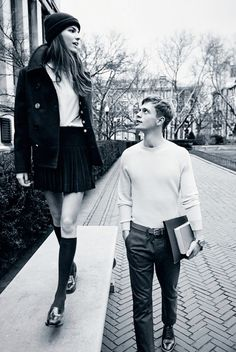 Cameron Russell for Man About Town Spring 2013 // college sweethearts