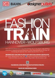 Fashion Train von Hannover nach Wolfsburg in Kooperation mit DB Regio