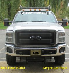 2015 Ford F-350 Meyer Lot Pro 8 EZ Plus mount.