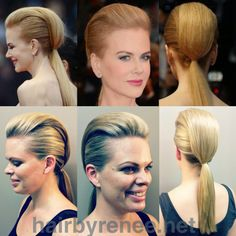STEP BY STEP Nicole Kidman Red Carpet Look - The Mowhawk Ponytail