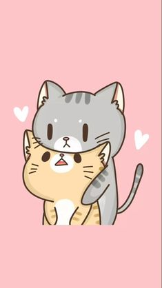 Image in Cute Background and Wallpaper collection by EsaTipaRara - Chibi Chat Kawaii, Kawaii Cat, Kawaii Anime, I Love Cats, Crazy Cats, Cute Cats, Chibi, Kawaii Wallpaper, Kawaii Cute Wallpapers