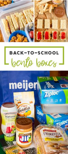 Who wouldn't want to save time and money when preparing for back-to-school?! Check out these PB & J Bento Boxes to see how Jif® Natural Creamy Peanut Butter Spread, Smucker's® Natural Strawberry Fruit Spread, and Pepperidge Farm® Whole Grain White Bread paired together with Ziploc® brand containers makes lunch-packing that much easier. Pick up everything you need at Meijer to try this simple and delicious recipe hack for yourself.
