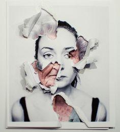Un proyecto muy personal cuestionando los límites de la fotografía y su soporte. Basado en autorretratos.