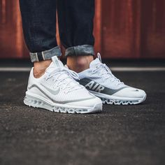"4,273 Likes, 78 Comments - Sneaker News, Release Dates (@trappedsneakers) on Instagram: ""#dailysneaks : OTF look at the @Nike Air Max More in a white and metallic silver... thoughts ?"""