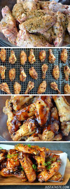 Crispy Baked Asian Chicken Wings #recipe