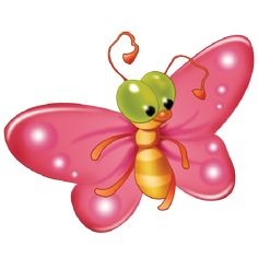 Baby Butterfly Cartoon Clip Art Pictures.All Butterfly Are Om A Transparent Background