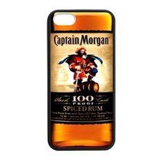 New Captain Morgan Spice Rum Bottle Print Apple iPhone 5 , 5s ,5c Case Cover