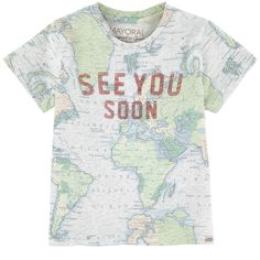Cotton jersey  Straight fit chest Crew neck Short sleeves Fancy print on the front and in the back - $ 23