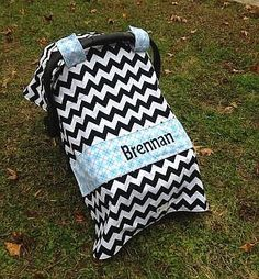 Black Chevron Light Blue Argyle Personalized Car Seat Canopy on Etsy $49.50  sc 1 st  Pinterest & Cleveland Browns Football NFL with Orange Chevron 5 in 1 Custom ...