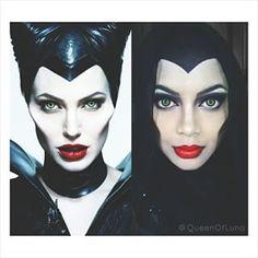 Hier ist Maleficent. | Diese Frau benutzt ihren Hidschab und Make-up, um sich in