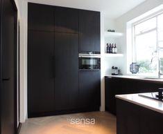 Beautiful Kitchen Designs, Beautiful Kitchens, Interior Design Tips, Interior Design Kitchen, Black Kitchens, Home Kitchens, Rustic Kitchen Design, Küchen Design, Simple House