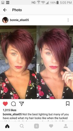 Oh so cute! Cut My Hair, Big Hair, Haircut And Color, Red Pixie Haircut, Short Hair Cuts, Short Hair Styles, Pelo Pixie, Sassy Hair, Great Hair