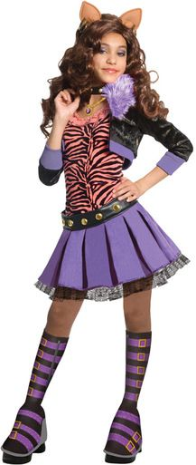 The Monster High CLAWDEEN WOLF Costume brings some creepy cool fun with fashion and style! She is smart and lovely in this Monster High Clawdeen Wolf Delux Fantasia Monster High, Festa Monster High, Monster High Party, Costume Halloween, Halloween Costumes For Girls, Girl Costumes, Costume Ideas, Party Costumes, Happy Halloween