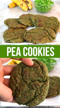 Pea Sweet and Salty Cookies Green Pea Sweet and Salty Healthy Cookies - made without flour, dairy, eggs or any fats.Green Pea Sweet and Salty Healthy Cookies - made without flour, dairy, eggs or any fats. Chocolate Cookie Recipes, Easy Cookie Recipes, Baby Food Recipes, Whole Food Recipes, Chocolate Chips, Easy Recipes, Dinner Recipes, Vegan Recipes Videos, Egg Free Recipes