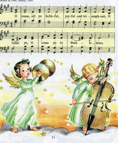 Christmas Carols Ephemera Pack Vintage Sheet Music Little Golden Book Pages Christmas Past, Christmas Books, Christmas Music, Retro Christmas, Christmas Carol, Christmas Angels, Vintage Christmas Images, Christmas Pictures, Antique Christmas