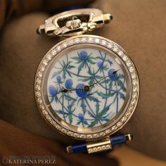 Wrist watch created by @bovet1822 in collaboration with the Russian enamel artist Ilgiz F.