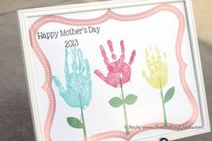 Mother's Day Handprint Flowers. #mothersday