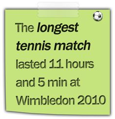 http://www.dummyfacts.com/the-longest-tennis-match-lasted-11-hours-and-5-minutes-at-wimbledon-2010/