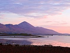 Photo of Westport Sunset Croagh Patrick - W42583 - Mayo - Ireland ...