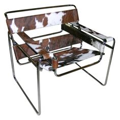 1stdibs   A Tubular Steel and Cowhide 'Wassily' Chair by Marcel Breuer