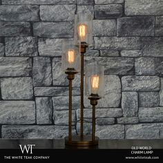 Treat yourself to the stunning, torchiere style Old World Charm lamp with its classic edison bulb installation that will instantly lend personality and charisma to your room! https://whiteteak.com/old-world-charm-lamp. #TableLamps #Lifestyle #Lighting #Decor #WhiteTeak