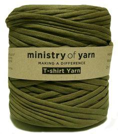 Khaki Green T-shirt trapillo jersey fabric yarn Australia