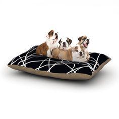 "Trebam ""Paucina"" Crazy Lines Dog Bed   KESS InHouse - 31% OFF One Year Anniversary Sale"