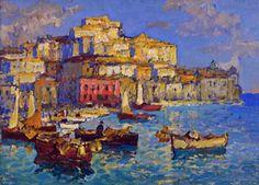 Konstantin Gorbatov, Harbor in Naples on ArtStack #konstantin-gorbatov #art