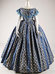 Evening Dress 1853, American, Made of silk