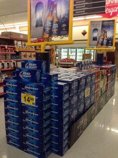 Football beer display