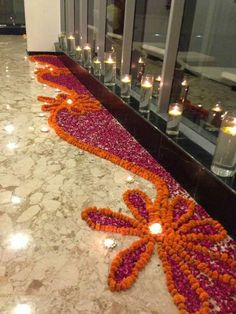 Rangoli designs & patterns don't always have to be intricate & difficult. Here are the top simple & small rangoli designs for Diwali at home for beginners. Rangoli Designs Flower, Small Rangoli Design, Rangoli Ideas, Rangoli Designs Diwali, Diwali Rangoli, Flower Rangoli, Easy Rangoli, Rangoli With Flowers, Diwali Flowers