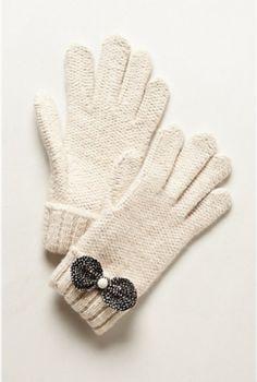 Anthropologie Hawkhurst Knit Gloves