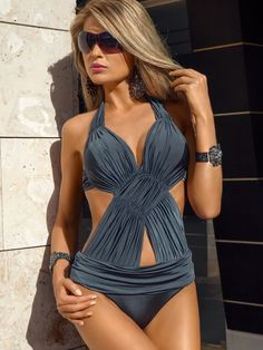 Meriell Club 2013 Swimwear Fantasy Monokini One Piece Swimsuit by alexcarina Tankini, Monokini Swimsuits, Cute Swimsuits, Bikini Swimwear, Swimwear 2014, Elite Fashion, Fashion Fashion, Luxury Fashion, Cute Bathing Suits