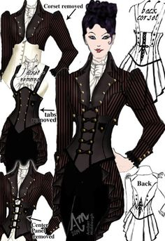 Convertible Steam Punk Jacket by Amber Middaugh (currently in voting - click the link and vote YES to give it a shot at production) Thanks!--- Save 37% at ChicStar.com --Coupon: AMBER37