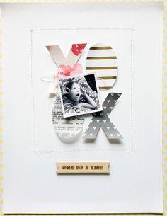 #Papercraft #scrapbook #layout. Chantal Philippe for Gossamer Blue