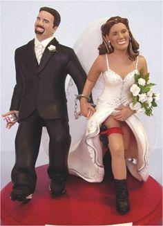 Noivinhos do topo de bolo de casamento: Ideias legais
