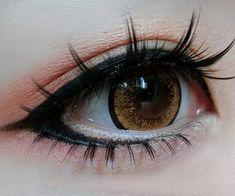 Doll Eye Makeup, Anime Eye Makeup, Gyaru Makeup, Anime Cosplay Makeup, Kawaii Makeup, Edgy Makeup, Makeup Inspo, Makeup Art, Makeup Inspiration