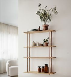 Embrace classic enduring style with our round-up of stylish modular shelving systems from Fogia, String, Montana Furnuture, and Citta Design. Shelving Design, Modular Shelving, Shelving Systems, Shelf Design, Diy Shelving, Wall Design, Shelves In Bedroom, Wall Mounted Shelves, Ladder Shelves