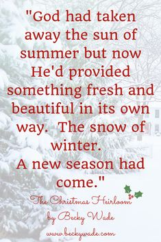 By author Becky Wade, from The Christmas Heirloom novella collection. #Christmas #books