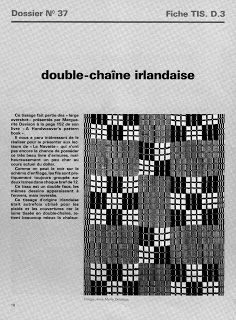 WEAVING LIBRARY : DOBBY FABRIC / FIGURED FABRIC / JACQUARD AND DRAWLOOM STUDY: Double chaine irlandaise (irish double fabric)