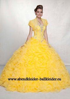 Klassisches Abend - Ballkleid Online in Gelb