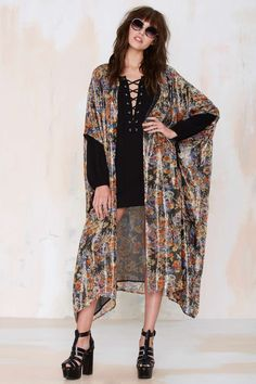 Mes Demoiselles Lumiere Silk Kimono