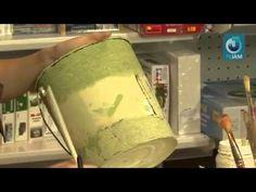 Декупаж садовой лейки, объёмный контур, патинирование - YouTube